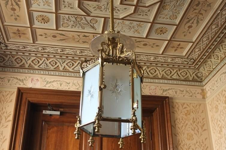 ANTIQUE LIGHTING RESTORATION AT CLIFFE CASTLE MUSEUM BRADFORD