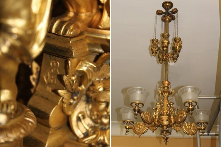 ANTIQUE LIGHTING RESTORATION AT CLIFFE CASTLE MUSEUM, BRADFORD.
