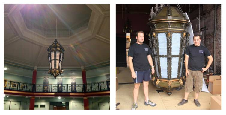 LARGE ANTIQUE LANTERN RESTORTION PROJECT