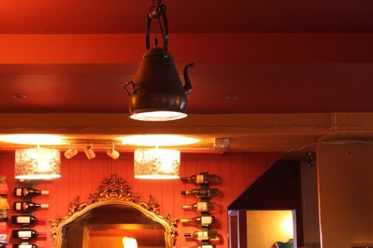 CONVERTED COPPER KETTLES FOR QUIRKY PUB LIGHTING