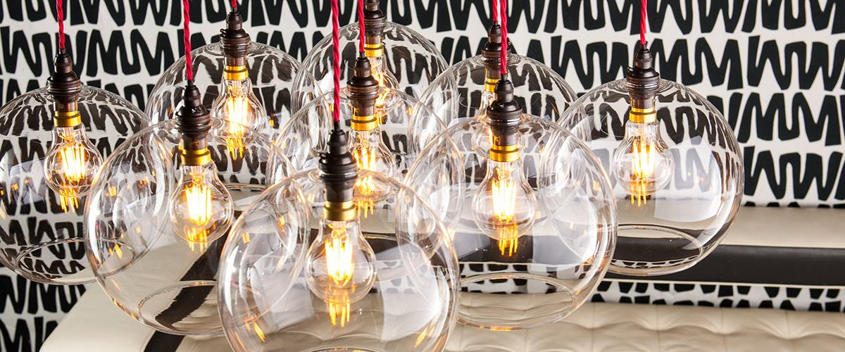 Glass Globe Pendant Lights Handmade In The Uk Fritz Fryer