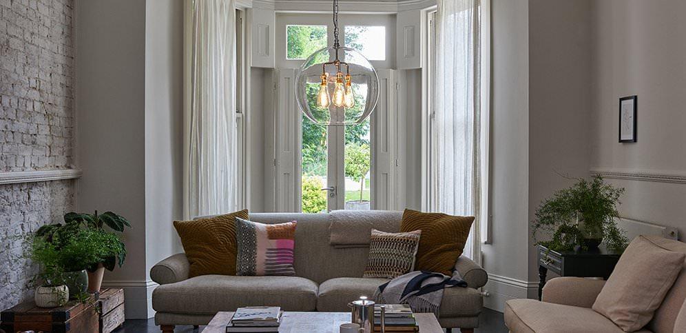 Lounge lighting Victorian Fritz Fryer Sitting Room