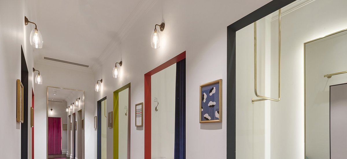 Feature lighting from Fritz Fryer for Boden Clothing London