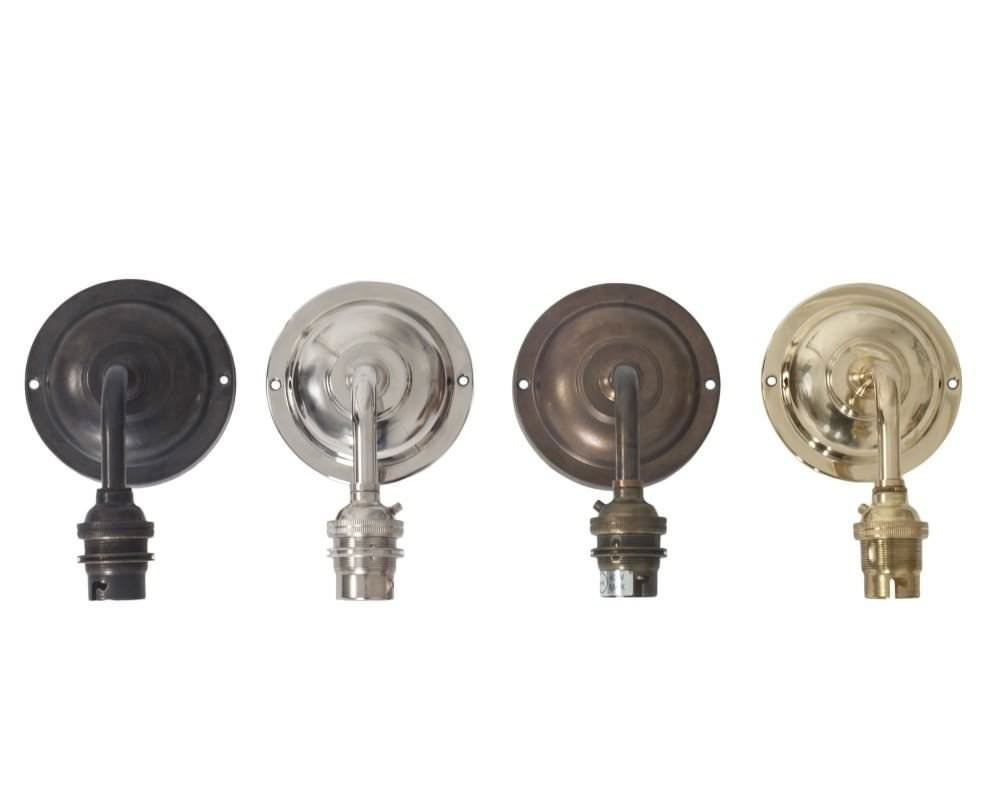 Finish Samples - Clear Glass Bathroom Wall Light, Pixley Retro & Traditional Industrial Design Lighting (Ip44 Rated)