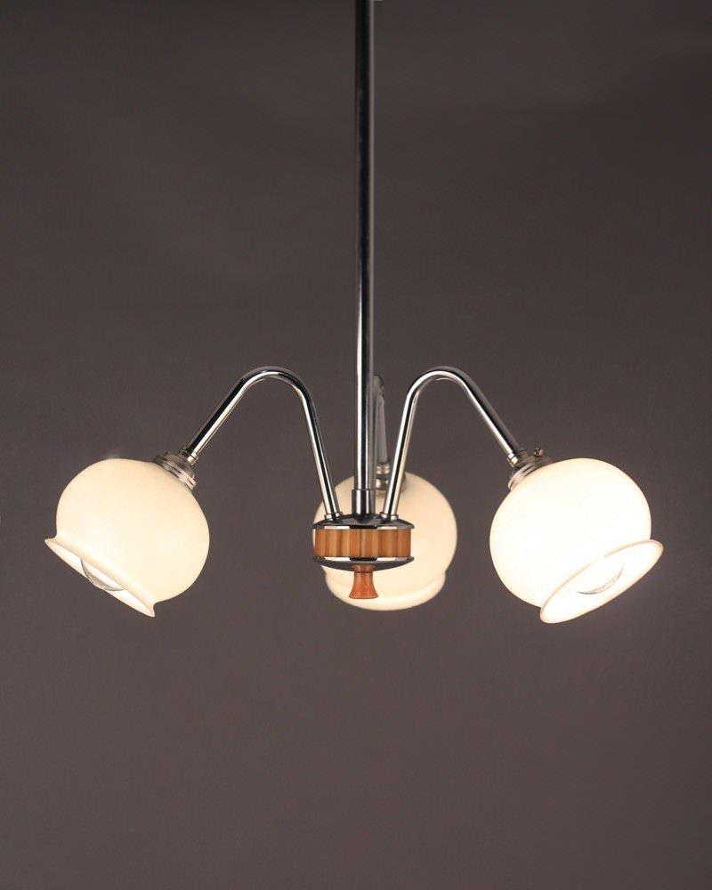 Light 3 branch art deco chandelier with original globe shades chandelier light 3 branch art deco chandelier with original globe shades aloadofball Choice Image