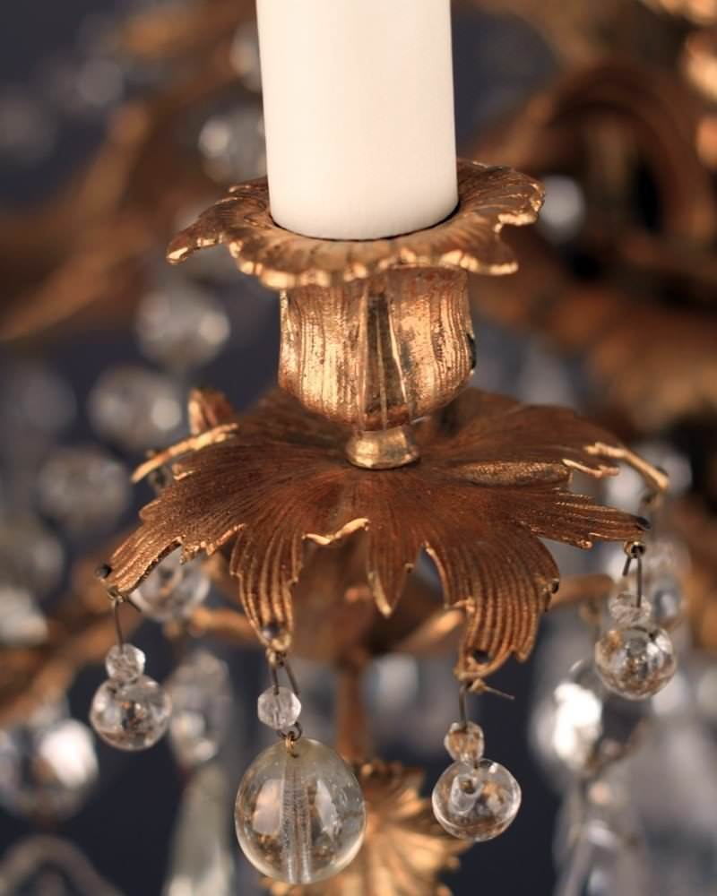 6 Branch Fine Quality Rococo Chandelier