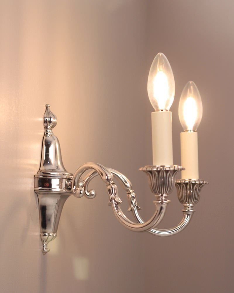Silver Wall Sconces For Candles : A Pair of Silver Plate Candle Sconce s with Petal Detailing Fritz Fryer