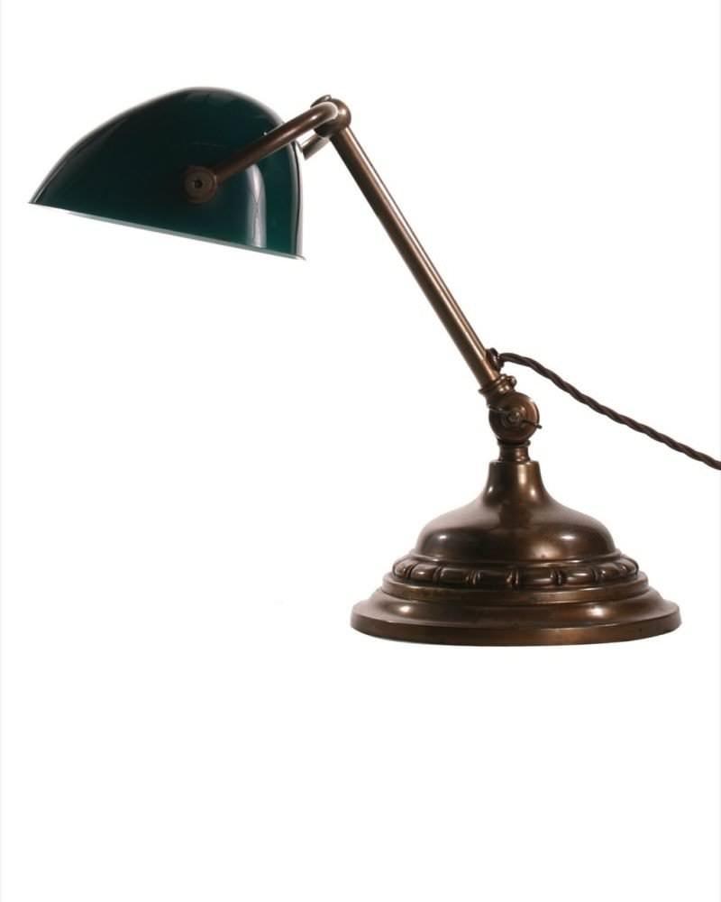 antique lighting antique bankers 39 lamp. Black Bedroom Furniture Sets. Home Design Ideas