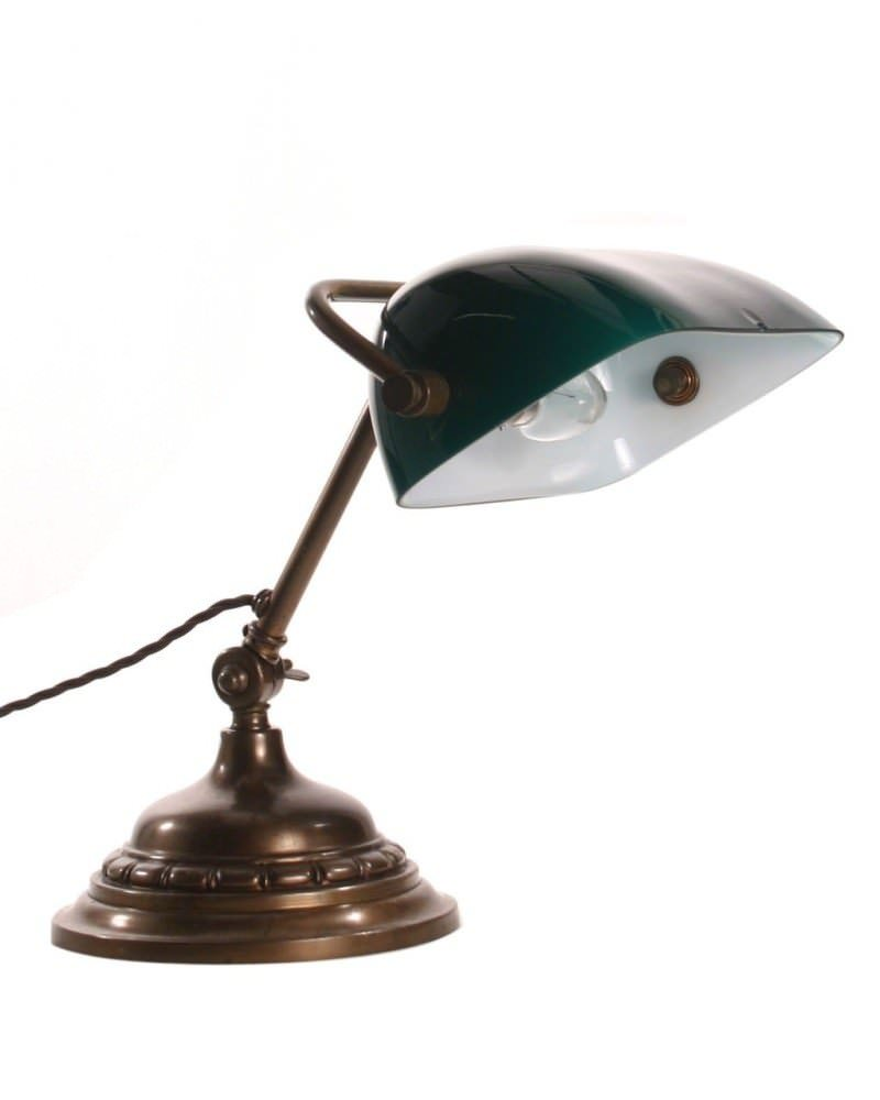 Antique Bankers Lamp Fritz Fryer