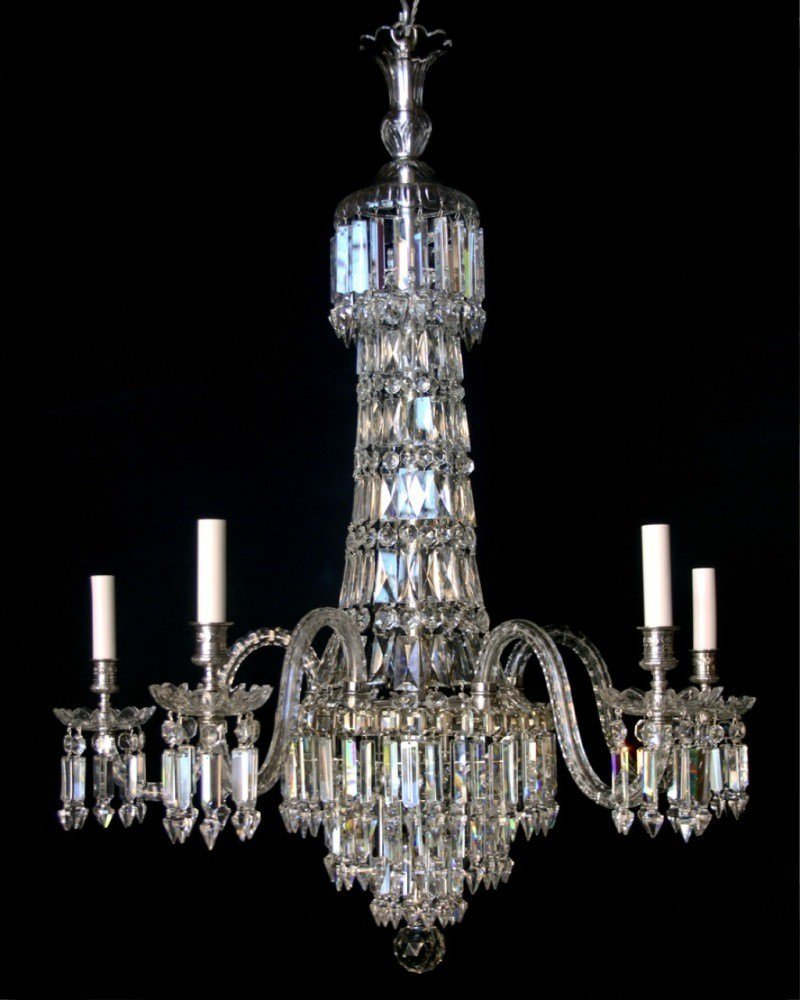 Antique Crystal Chandelier By Osler