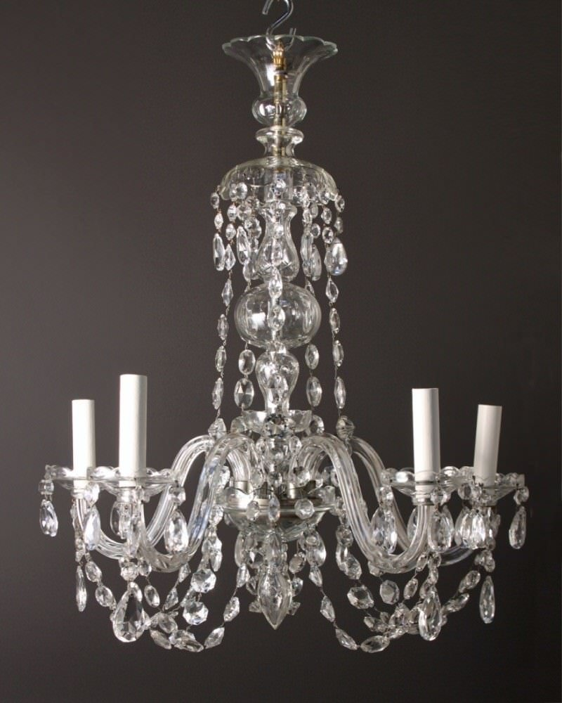 Antique Crystal Chandelier Fritz Fryer