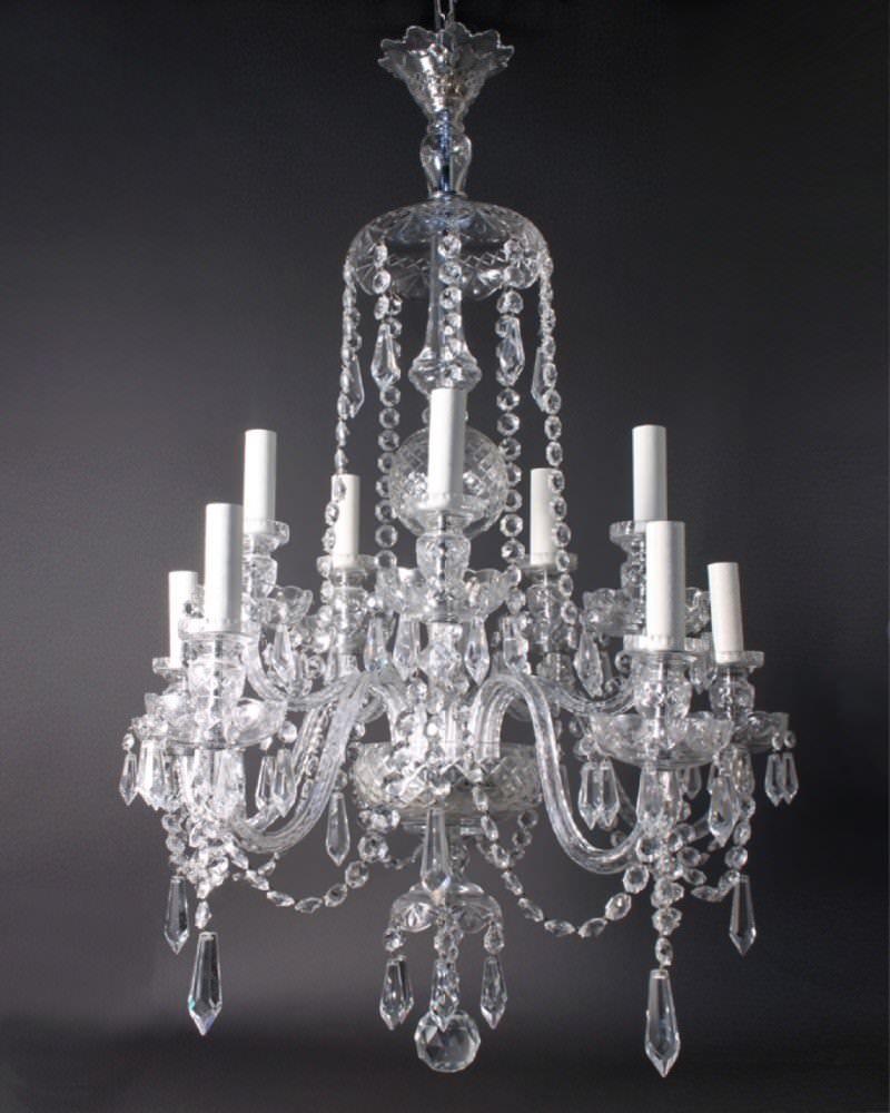 Antique Crystal Chandelier Fritz Fryer