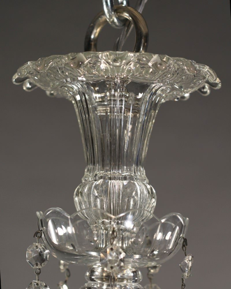 Traditional English Drawing Room: Antique Crystal Chandelier, English