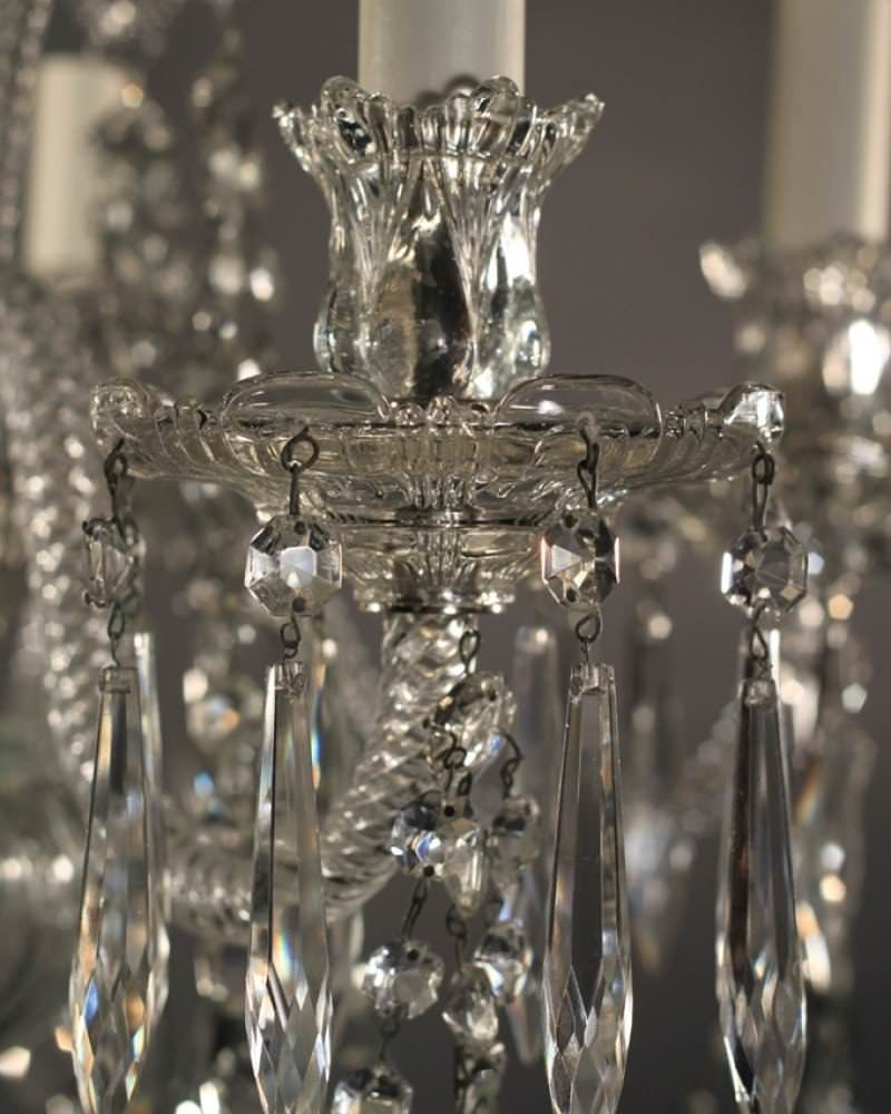 Antique Crystal Chandelier English Fritz Fryer