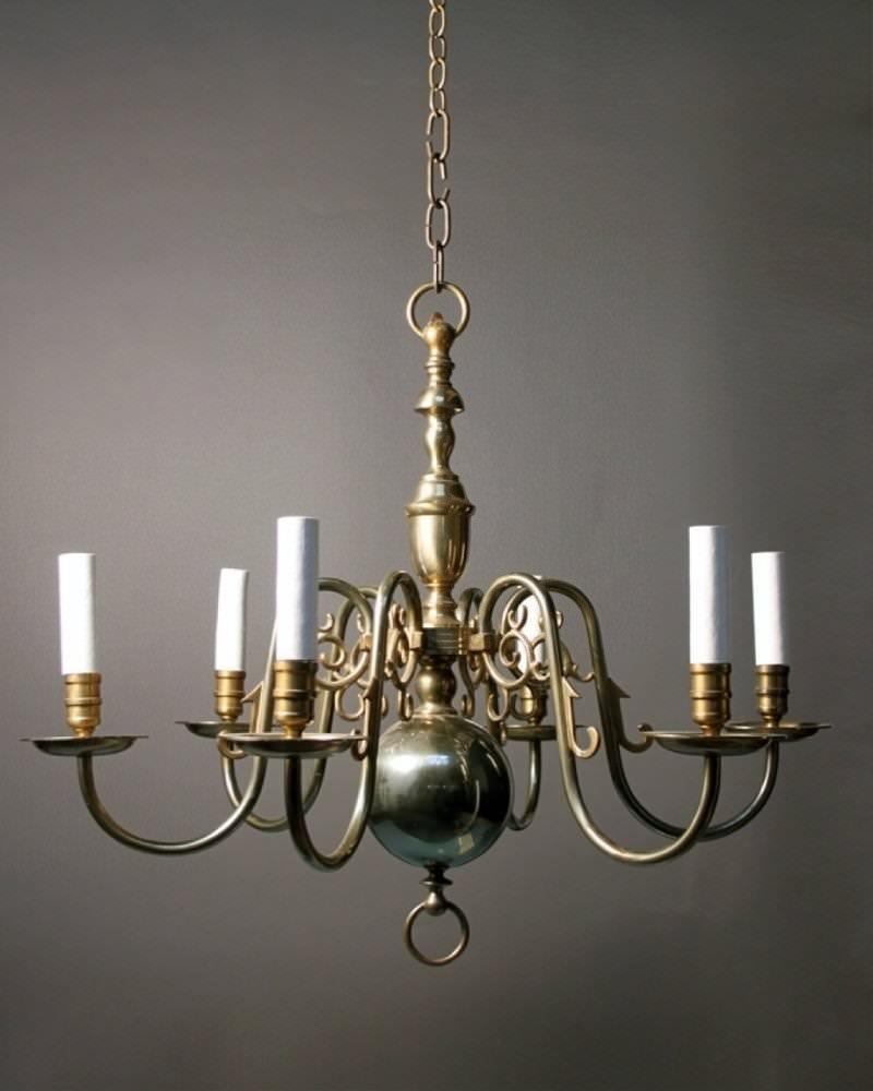 Antique Dutch Style Chandelier Fritz Fryer