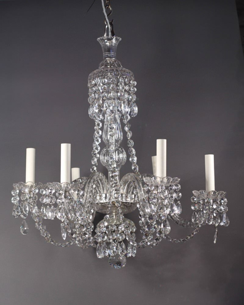 English crystal chandelier with 6 branches antique english crystal chandelier with 6 branches arubaitofo Gallery