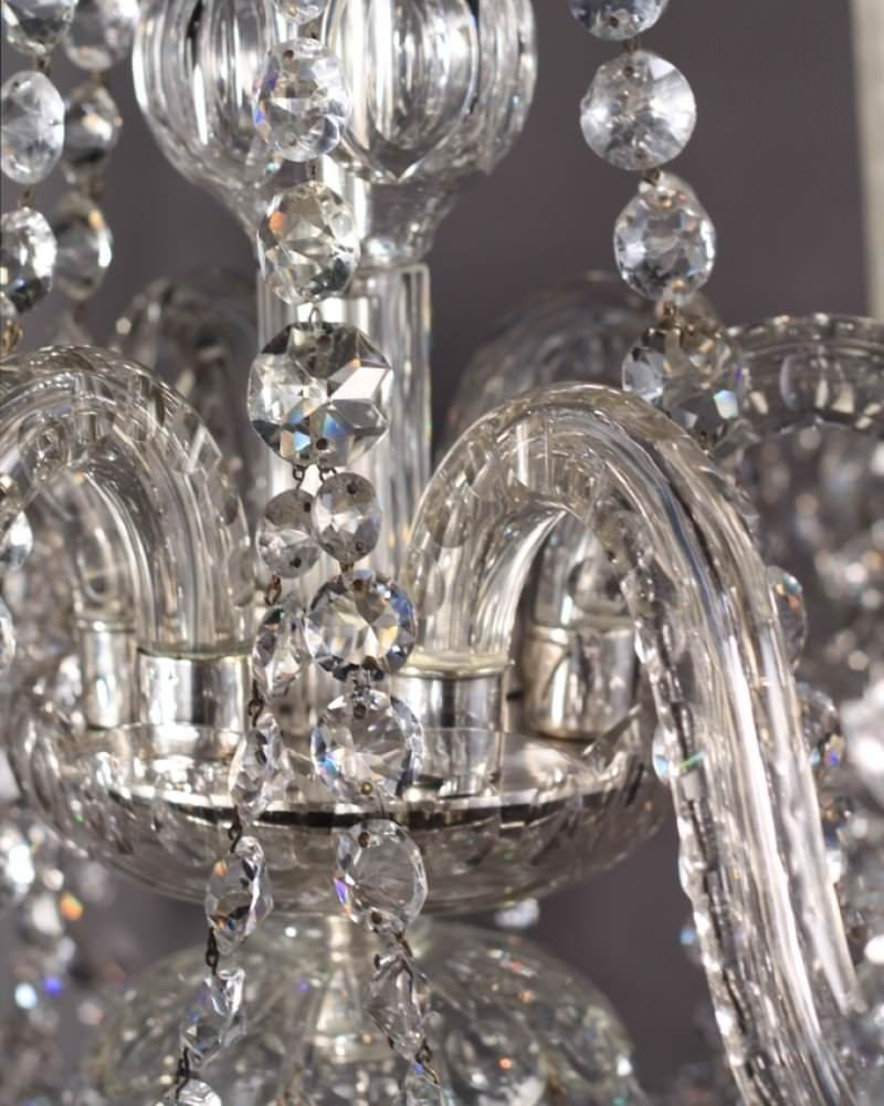 Crystal Chandelier Old: Antique English Crystal Chandelier With 6 Branches