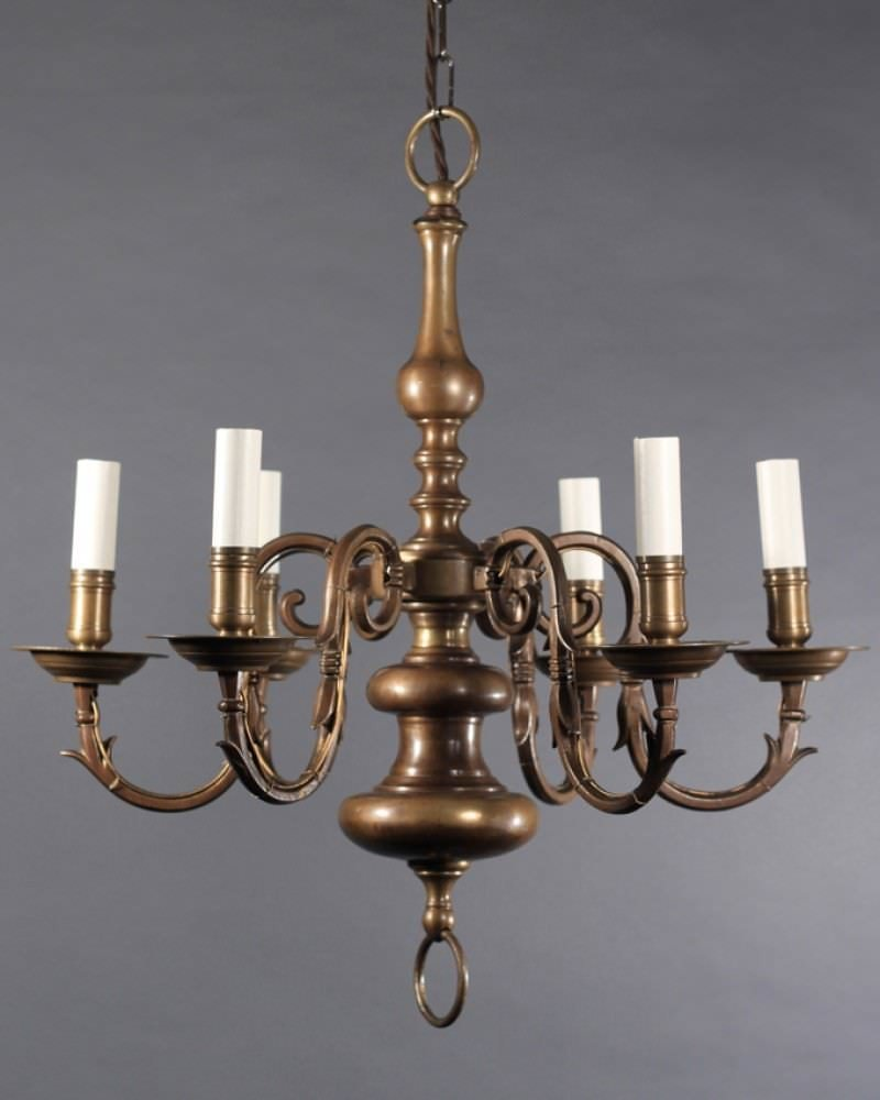 Antique Brass Dutch Chandelier