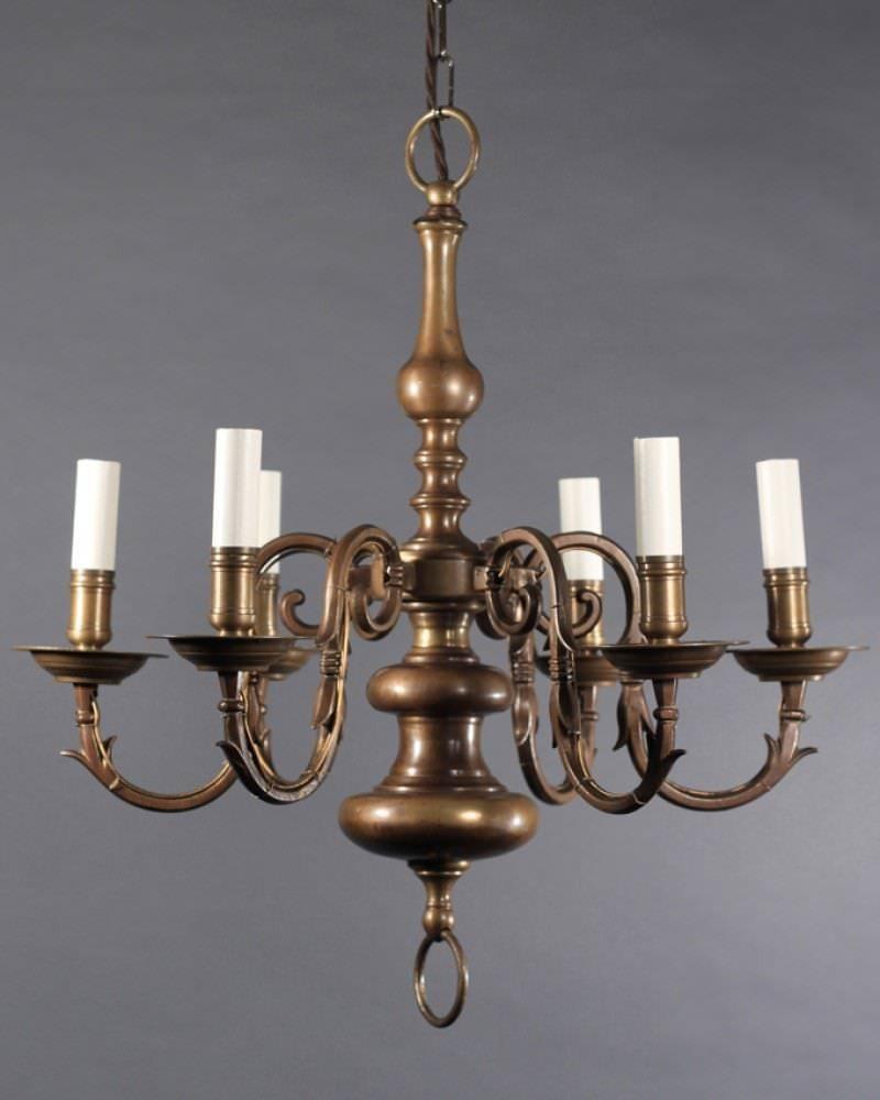Antique Brass Dutch Chandelier Fritz Fryer
