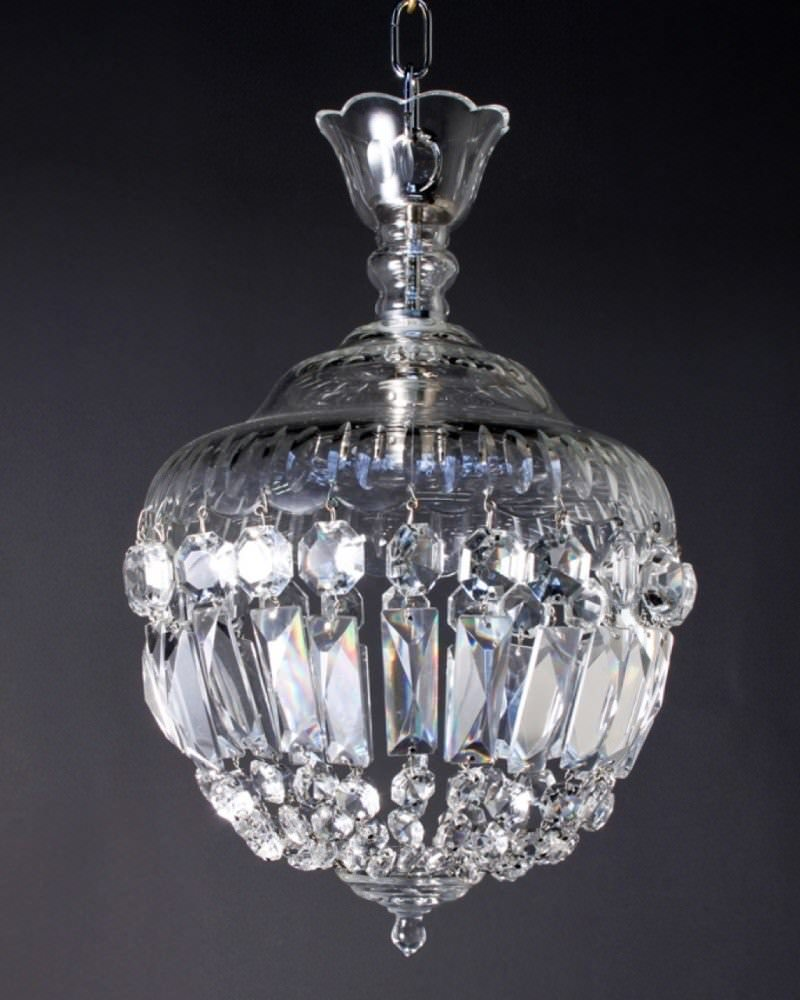 Antique chandelier crystal bag