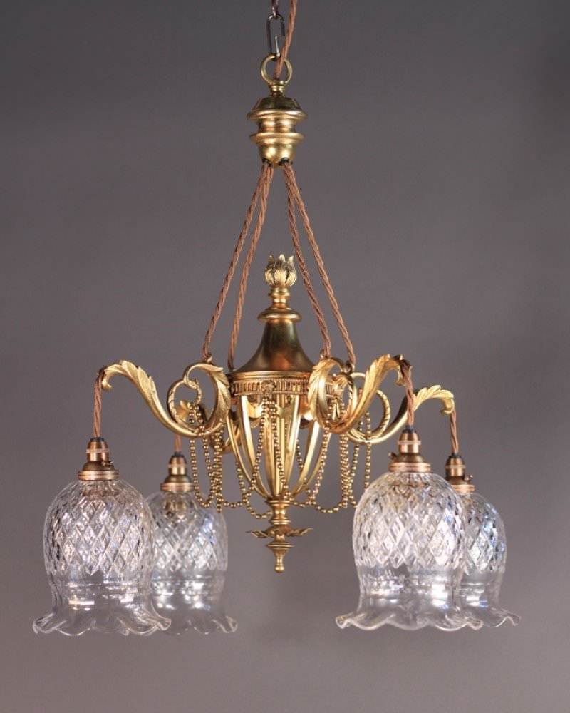 Antique Gilt Chandelier Attr To F Amp C Osler Fritz Fryer