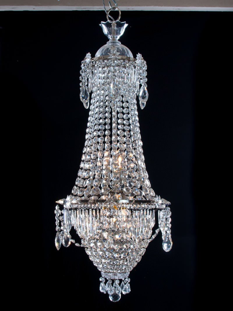 Waterfall bag antique crystal chandelier antique lighting aloadofball Gallery