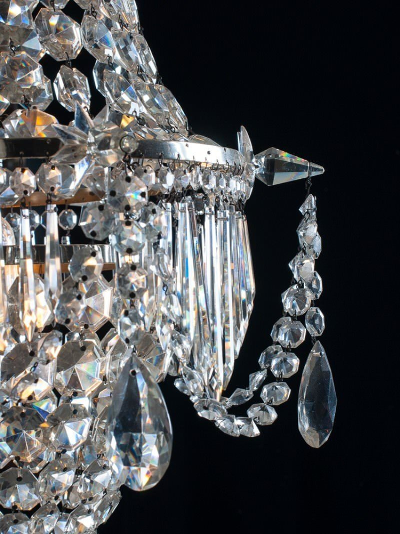Antique waterfall & bag crystal chandelier
