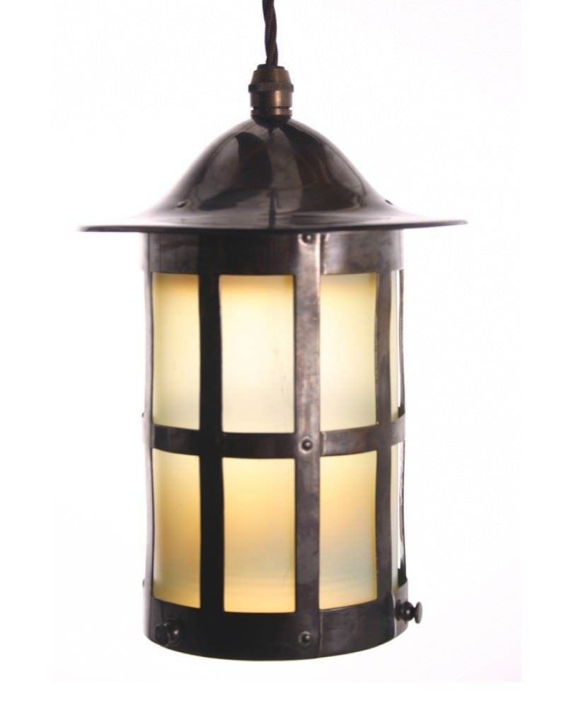 Arts And Crafts Vaseline Lantern Fritz Fryer