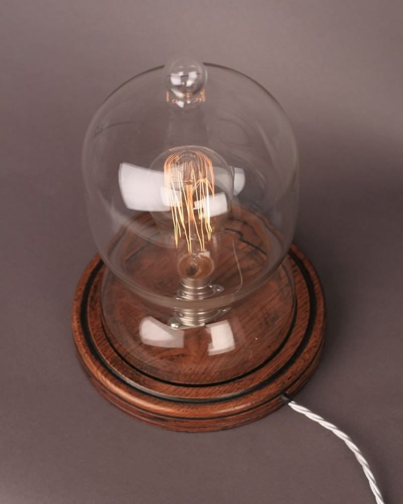 bespoke lighting bespoke dome glass table lamp. Black Bedroom Furniture Sets. Home Design Ideas