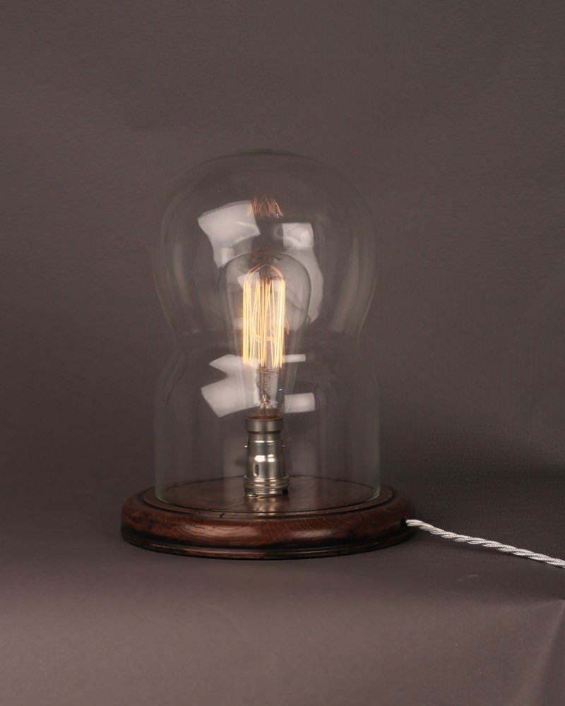 Retro Table Lamps : Vintage retro dome glass table lamp lighting