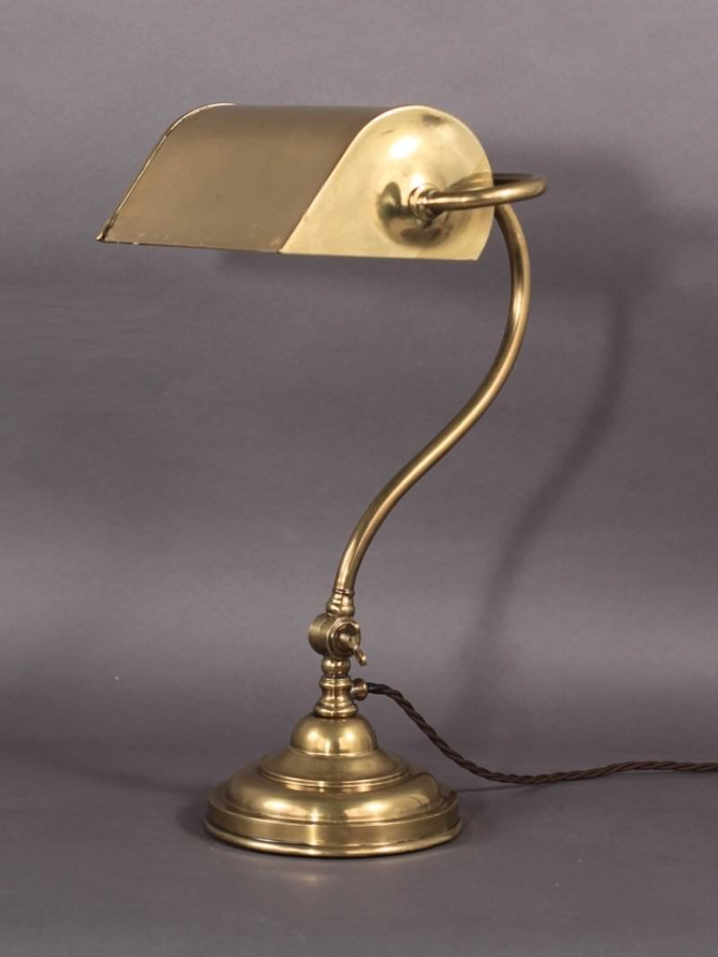 brass bankers lamp. Black Bedroom Furniture Sets. Home Design Ideas