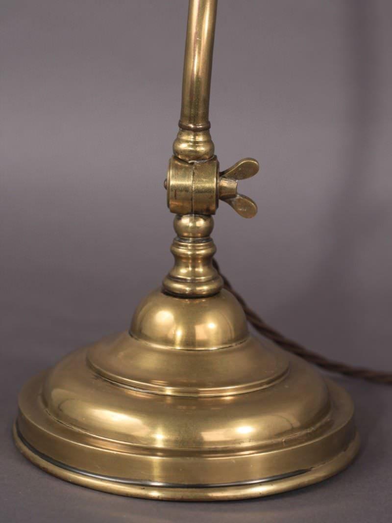 brass bankers lamp. Black Bedroom Furniture Sets. Home Design Ideas