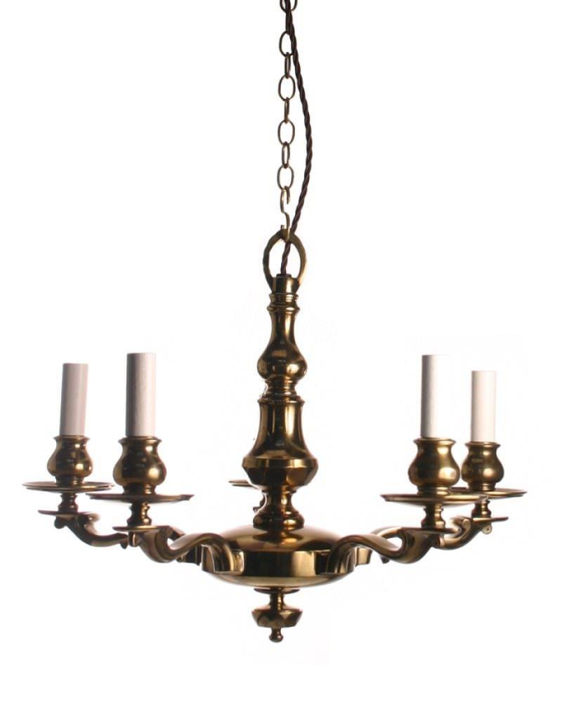 Brass Edwardian Chandelier