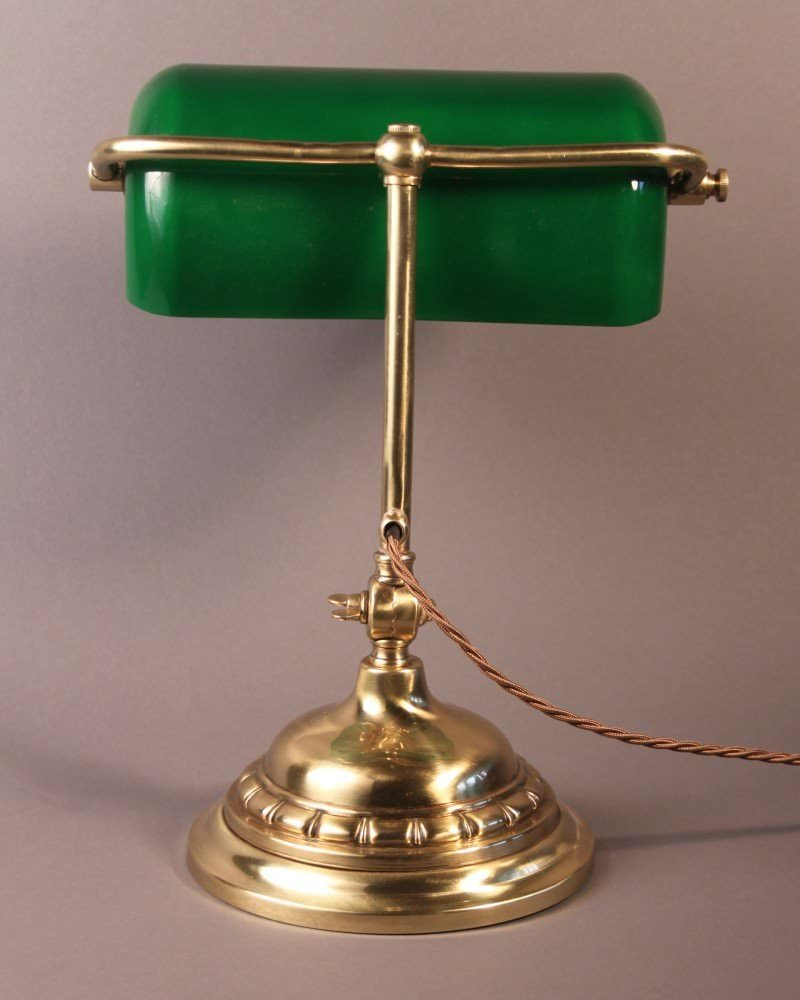 Brass Bankers Lamps