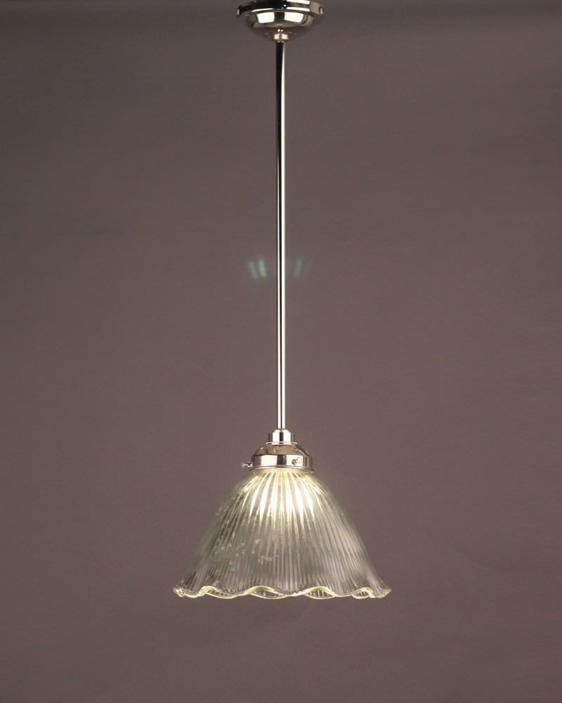 Caple prismatic clear frilled glass bathroom ceiling light for Modern bathroom pendant lighting