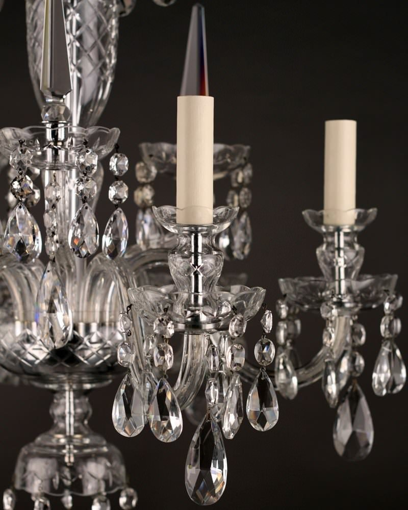 Fine Quality Bohemian Six Branch Crystal Chandelier