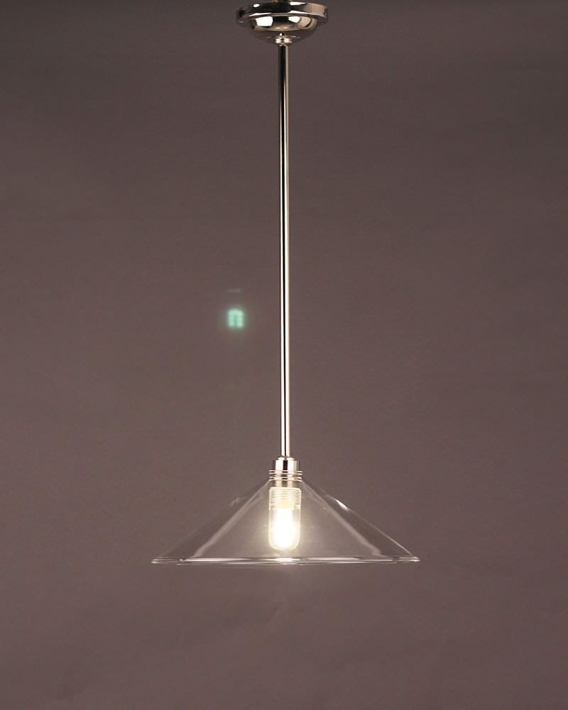 Edwardian Style Clear Glass Hay Coolie Bathroom Ceiling Light Ip44 Rated