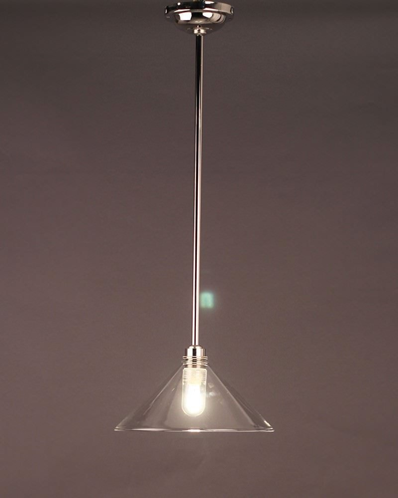 Edwardian Style Clear Glass Hay Coolie Bathroom Ceiling Light (Ip44 Rated)