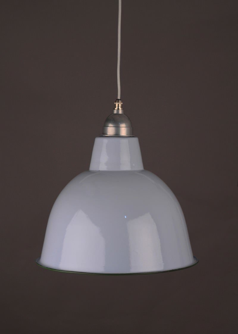 Enamel pendant light (grey) Fritz Fryer