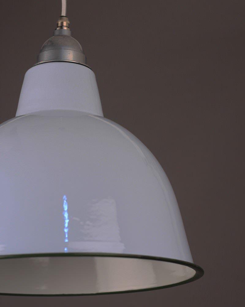 Grey Enamal Pendant Ceiling Light, Industrial Retro Lighting