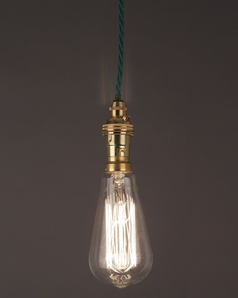 Vintage Light Bulb, Pear Shape Squirrel Cage Filament Bulb 40w