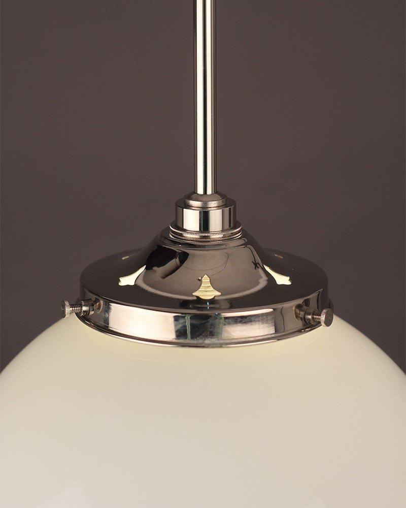 Garway White Glass Globe Bathroom Ceiling Light Fritz Fryer