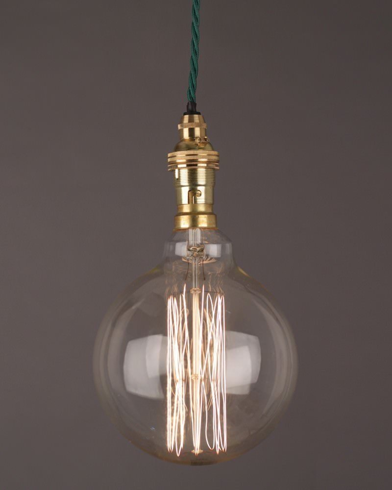 Vintage Retro Light Bulb, Globe Squirrel Cage Bulb 40w