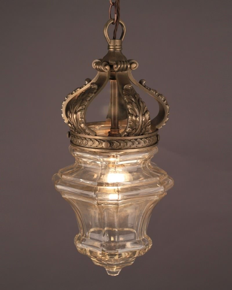 Large Versailles Lantern, Bronze And Glass, Antique Lighting