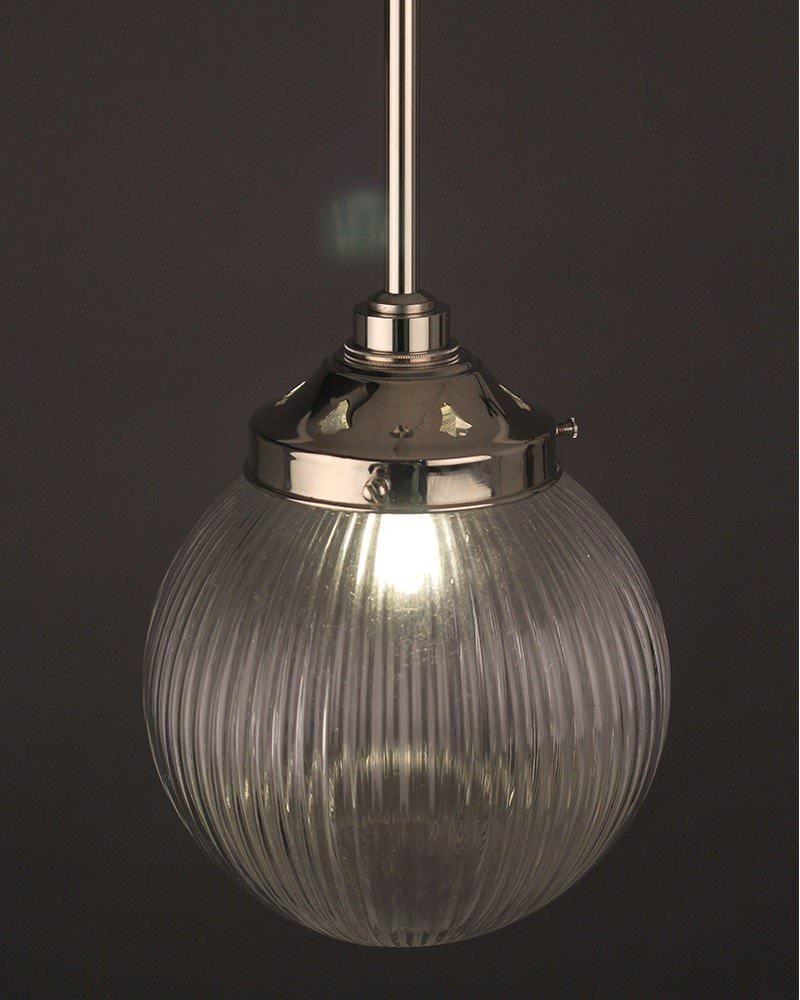 Goodrich Prismatic Clear Glass Bathroom Ceiling Light Fritz Fryer