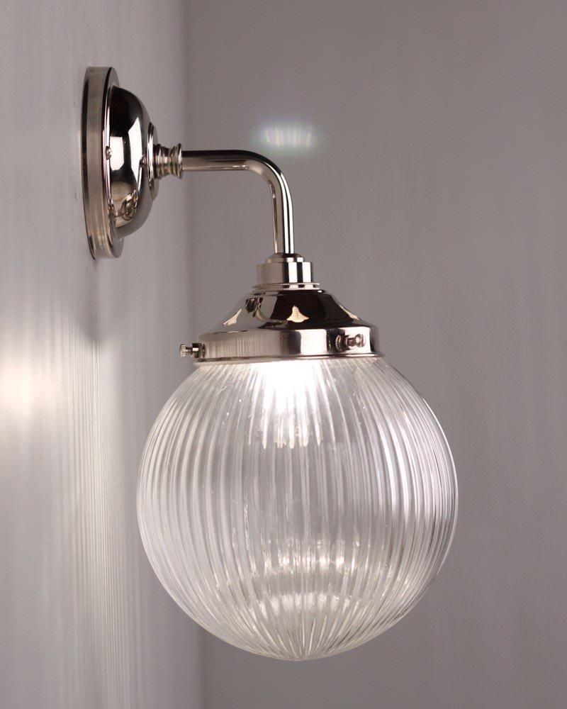Goodrich Prismatic Glass Globe Contemporary Bathroom Wall