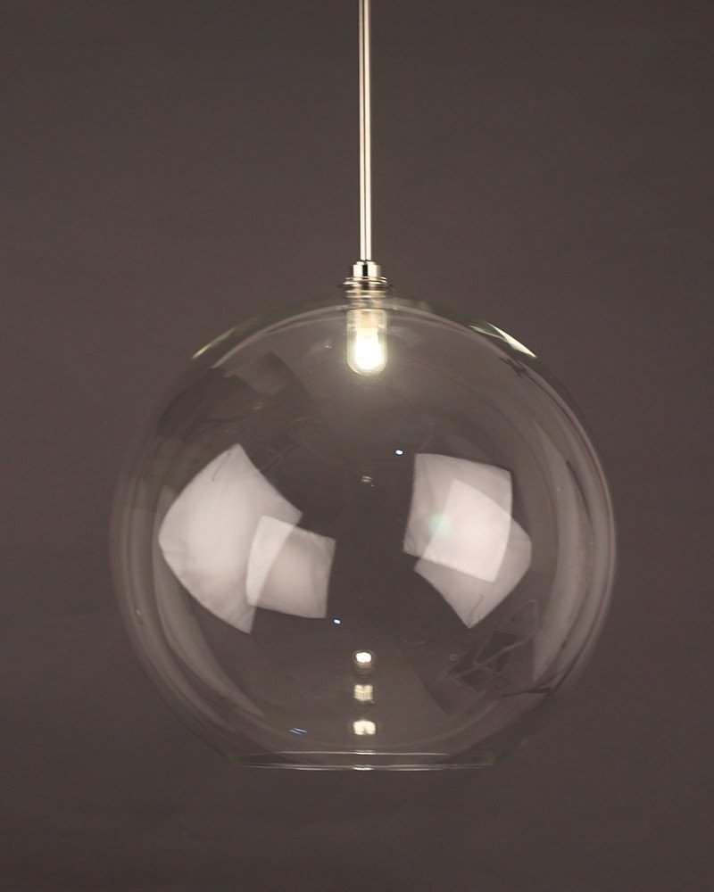 Clear Globe Pendant Bathroom Ceiling Light Hereford Retro