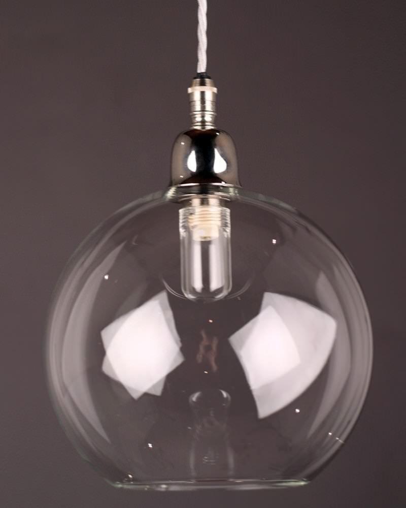 Hereford Clear Glass Globe Bathroom Pendant Light