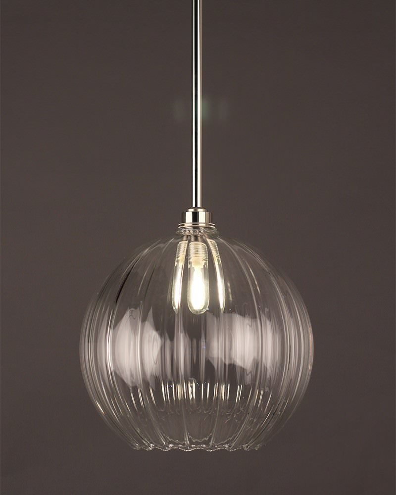 globe light hereford ribbed glass globe bathroom ceiling light ip44 rated