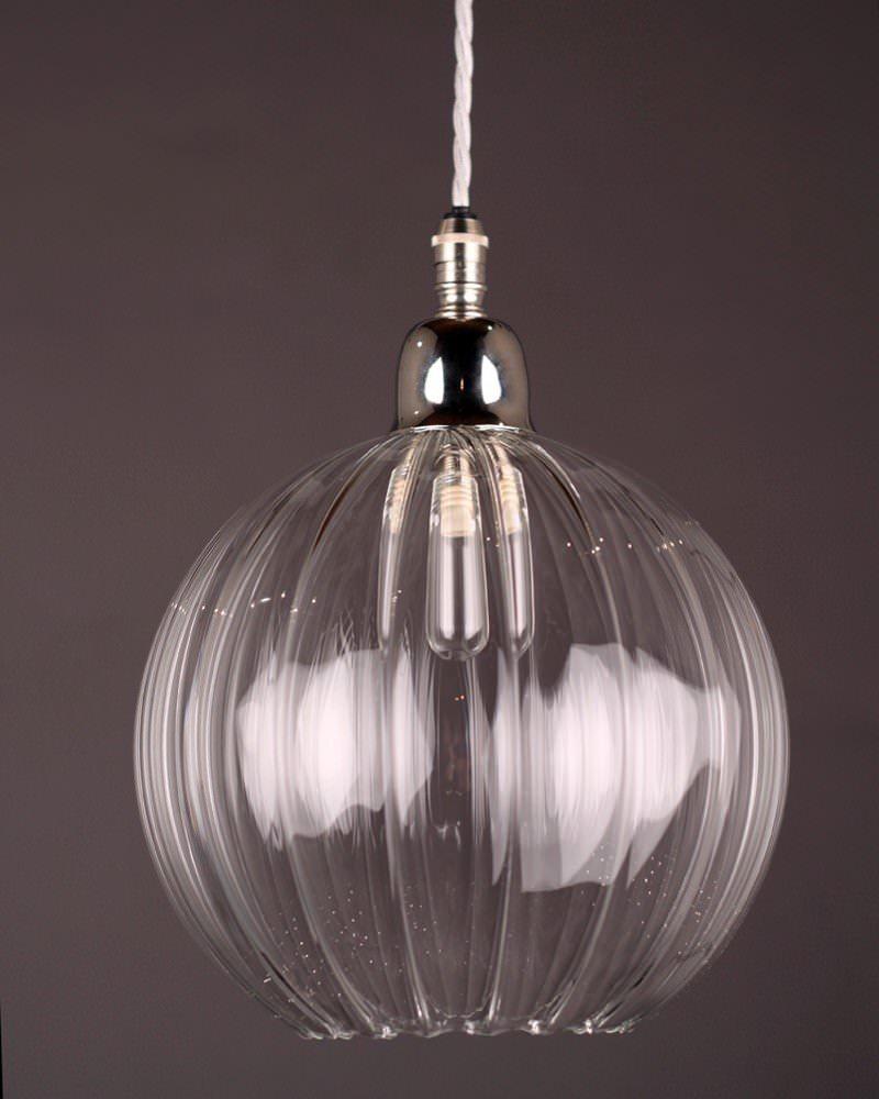 Glass Globe Pendant Light Nz Large Uk Clear Fixtures: Hereford Ribbed Glass Globe Bathroom Pendant Light